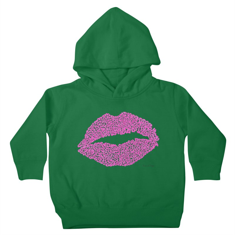 Kisses are the Answer (Pink) Kids Toddler Pullover Hoody by Daniel Dugan's Artist Shop