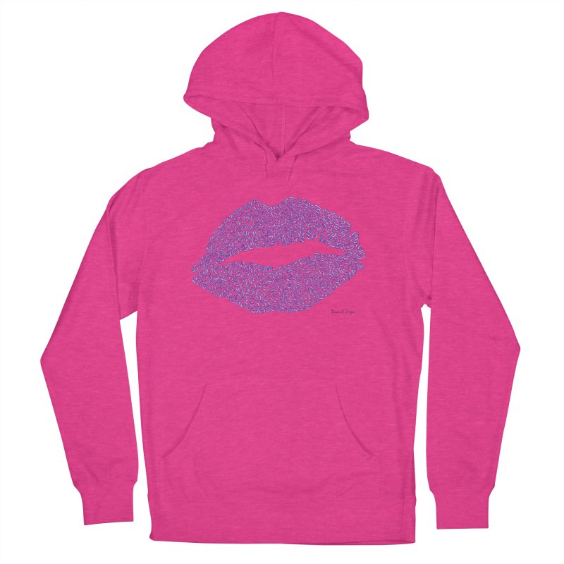 Kisses are the Answer (Purple) Women's Pullover Hoody by Daniel Dugan's Artist Shop