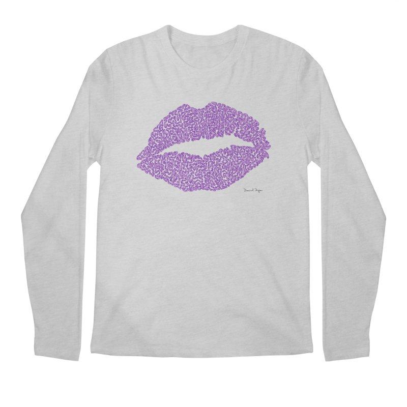 Kisses are the Answer (Purple) Men's Longsleeve T-Shirt by Daniel Dugan's Artist Shop
