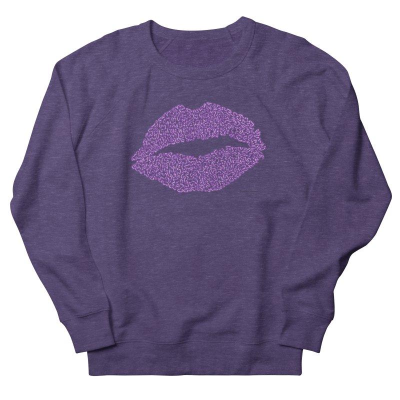 Kisses are the Answer (Purple) Men's Sweatshirt by Daniel Dugan's Artist Shop