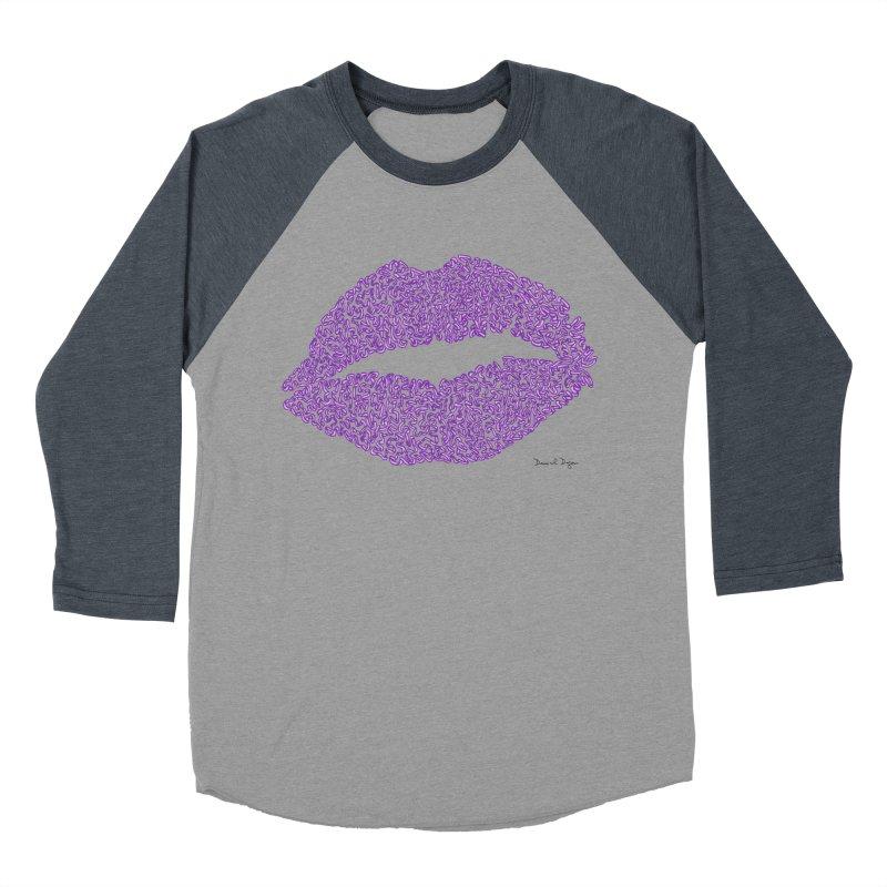 Kisses are the Answer (Purple) Women's Baseball Triblend T-Shirt by Daniel Dugan's Artist Shop