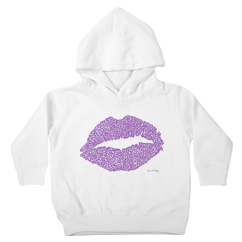 Kisses are the Answer (Purple) Kids Toddler Pullover Hoody by Daniel Dugan's Artist Shop