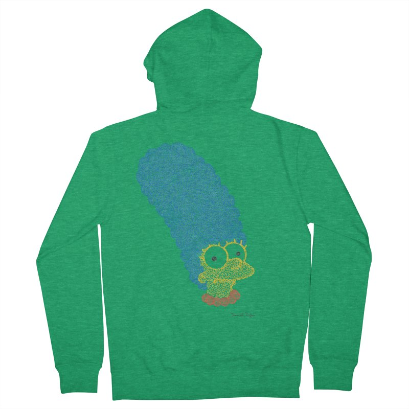Marge With Color Women's Zip-Up Hoody by Daniel Dugan's Artist Shop