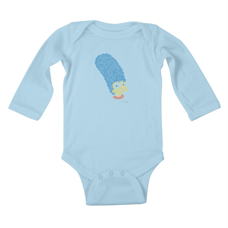 Marge With Color Kids Baby Longsleeve Bodysuit by Daniel Dugan's Artist Shop