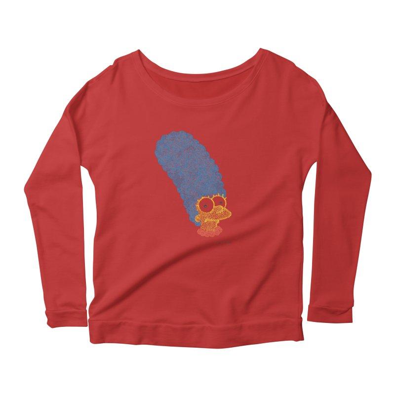 Marge With Color Women's Longsleeve Scoopneck  by Daniel Dugan's Artist Shop
