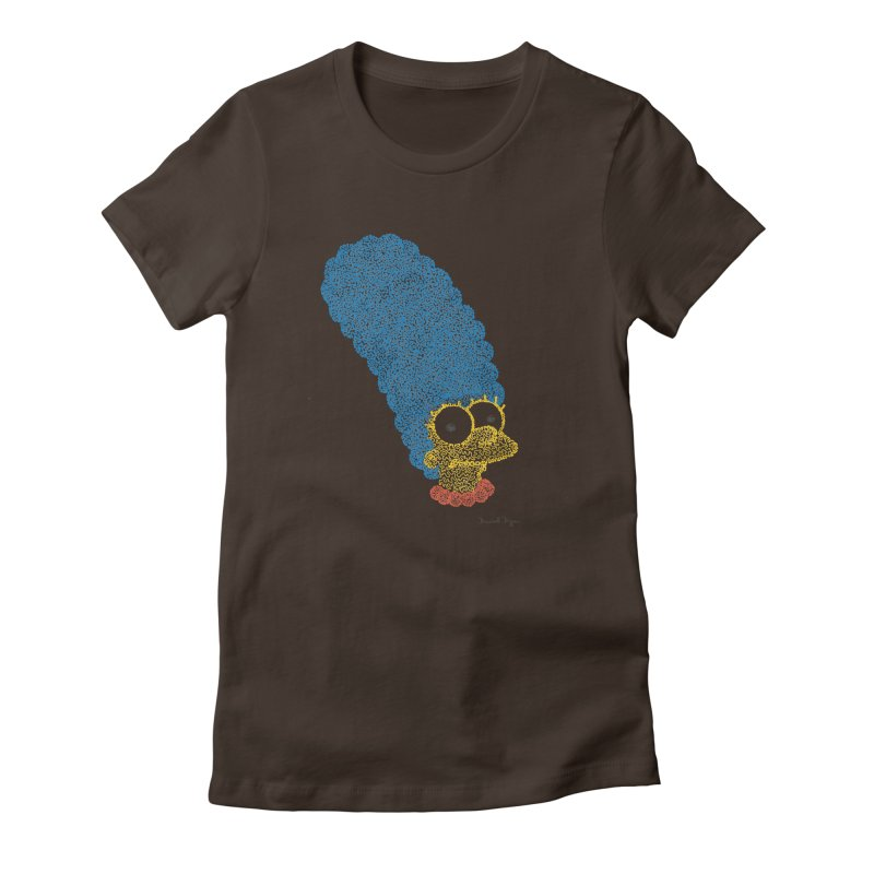 Marge With Color Women's Fitted T-Shirt by Daniel Dugan's Artist Shop