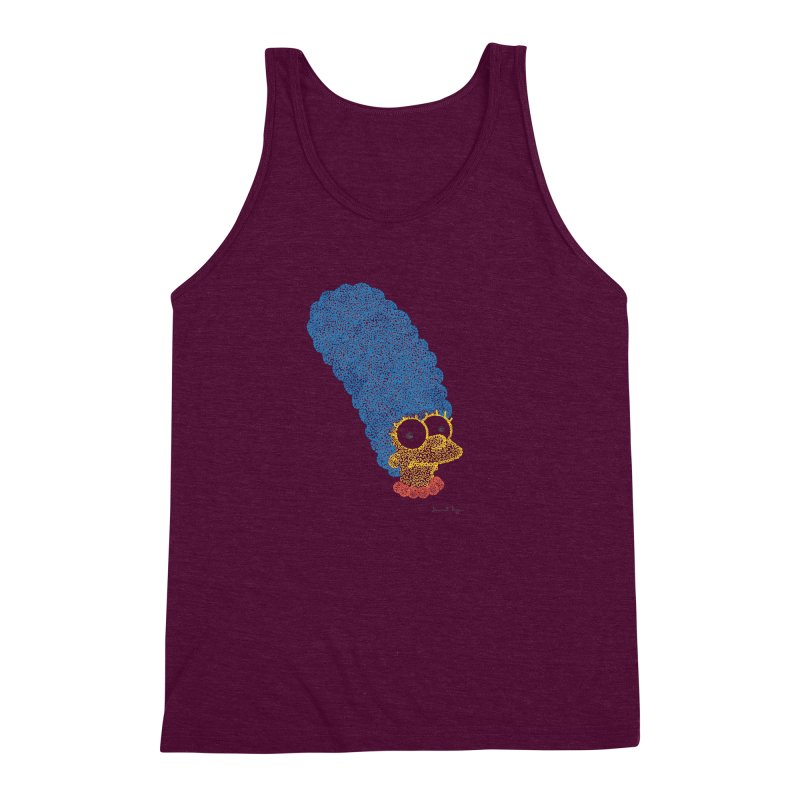 Marge With Color Men's Triblend Tank by Daniel Dugan's Artist Shop