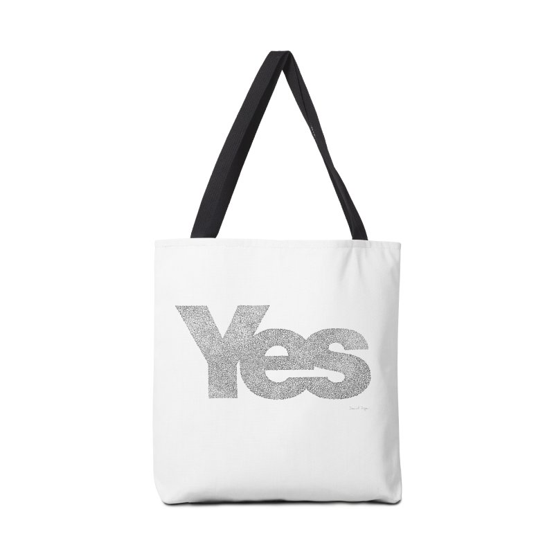 Yes in Tote Bag by Daniel Dugan's Artist Shop