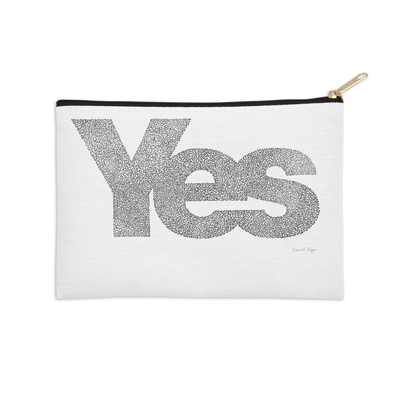 Yes Accessories Zip Pouch by Daniel Dugan's Artist Shop