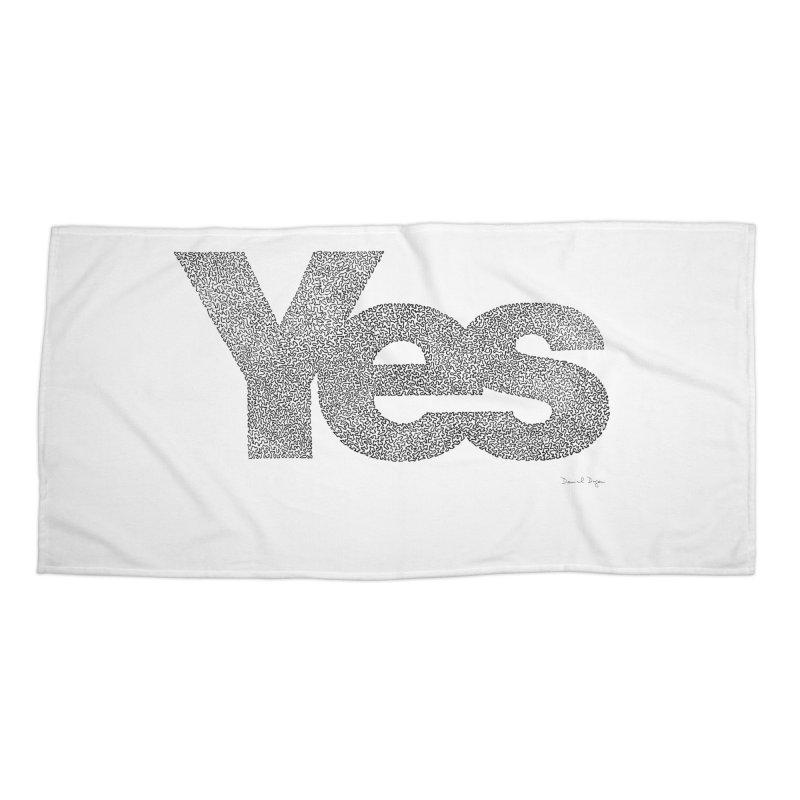 Yes Accessories Beach Towel by Daniel Dugan's Artist Shop