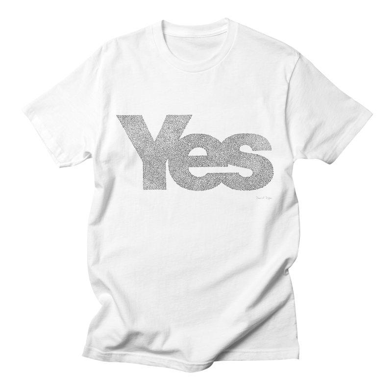 Yes Men's T-shirt by Daniel Dugan's Artist Shop