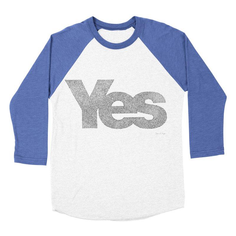 Yes Men's Baseball Triblend T-Shirt by Daniel Dugan's Artist Shop