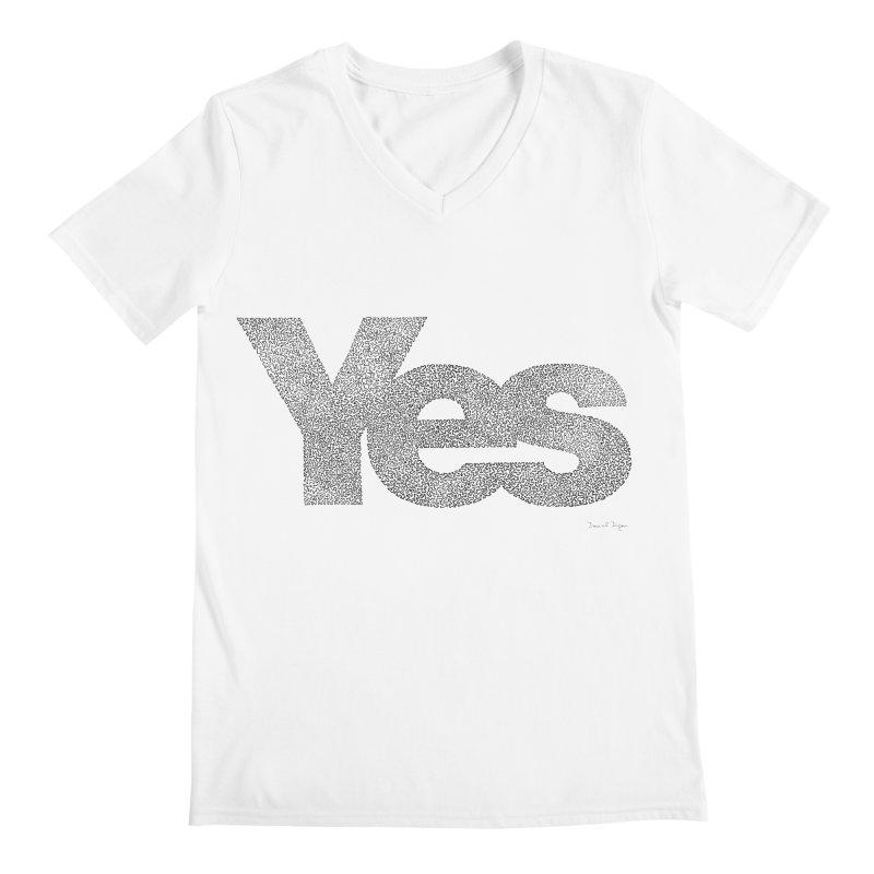 Yes Men's V-Neck by Daniel Dugan's Artist Shop