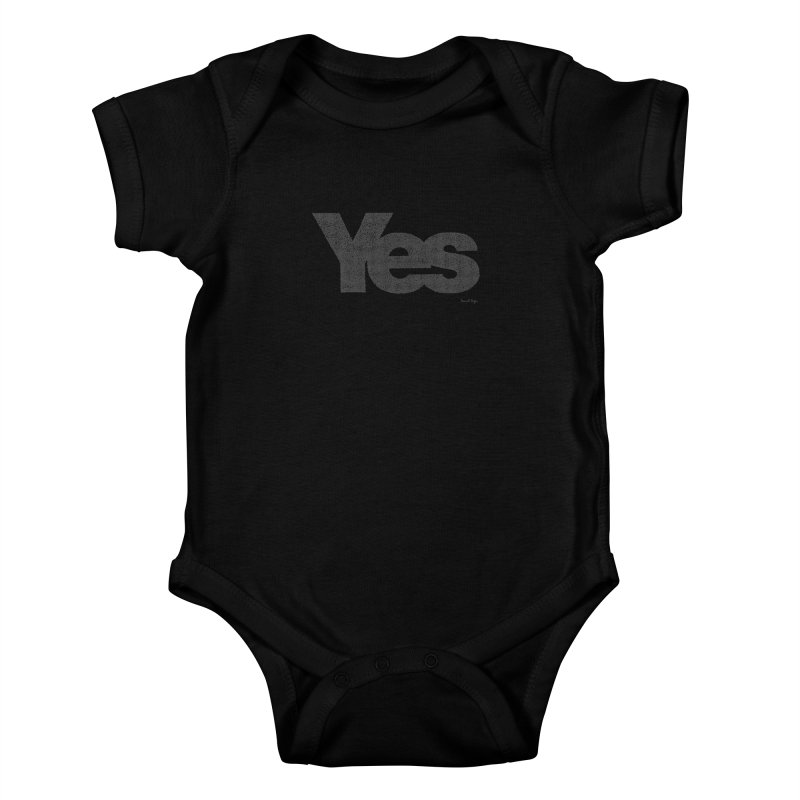 Yes Kids Baby Bodysuit by Daniel Dugan's Artist Shop