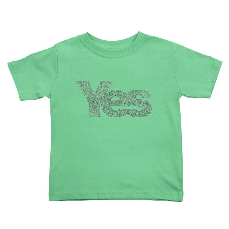 Yes Kids Toddler T-Shirt by Daniel Dugan's Artist Shop