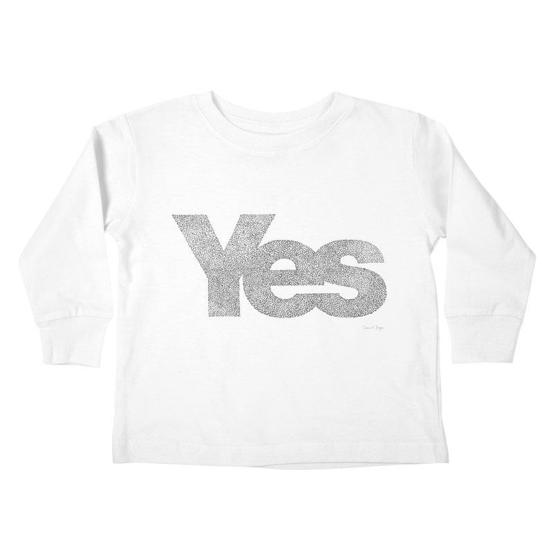 Yes Kids Toddler Longsleeve T-Shirt by Daniel Dugan's Artist Shop
