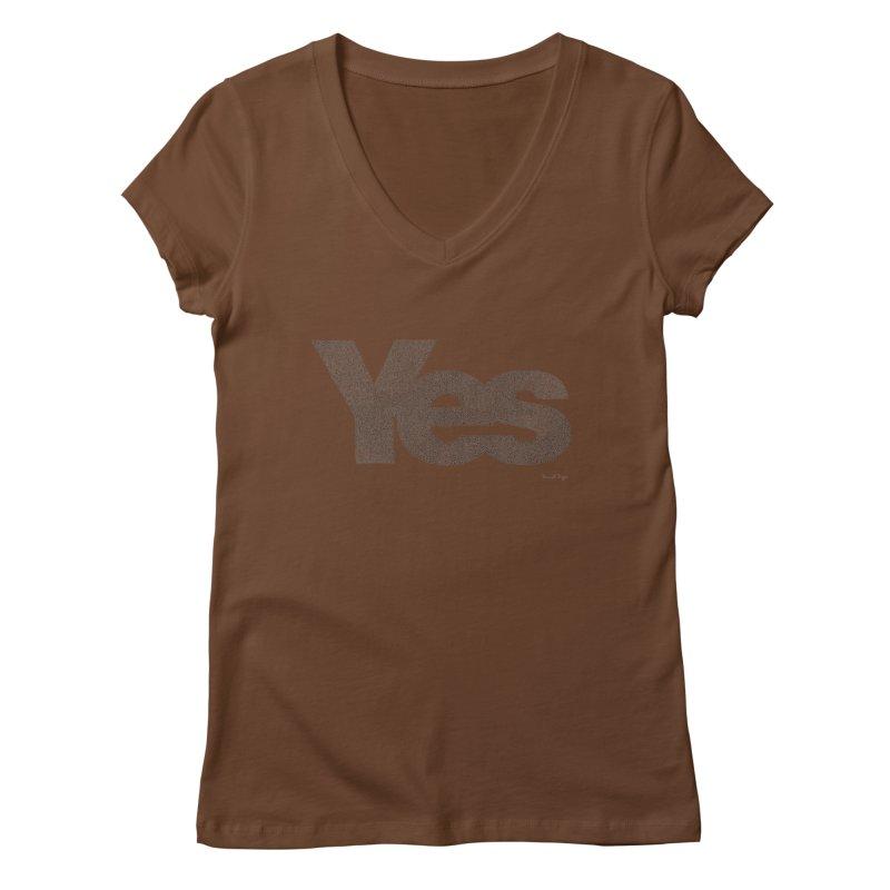 Yes Women's V-Neck by Daniel Dugan's Artist Shop