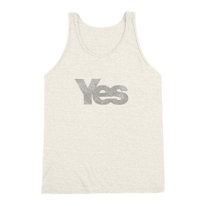 Yes Men's Triblend Tank by Daniel Dugan's Artist Shop