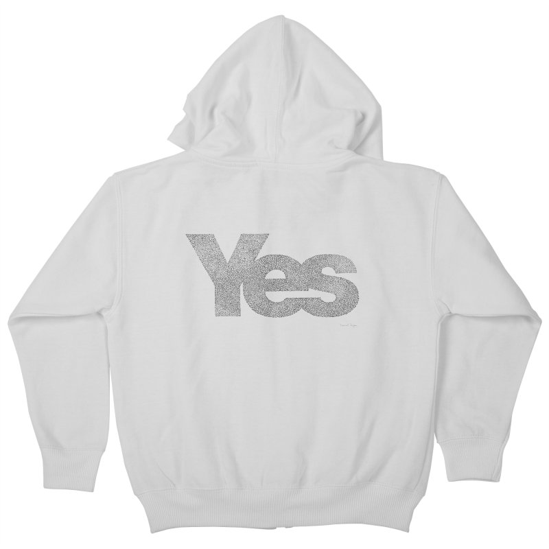 Yes Kids Zip-Up Hoody by Daniel Dugan's Artist Shop