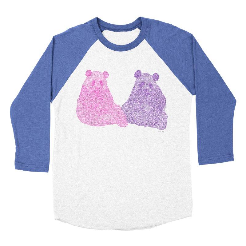Playing Pandas Women's Baseball Triblend T-Shirt by Daniel Dugan's Artist Shop