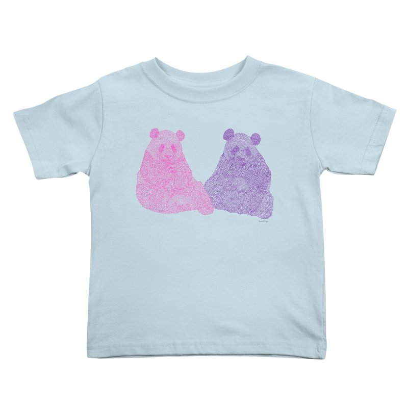 Playing Pandas Kids Toddler T-Shirt by Daniel Dugan's Artist Shop