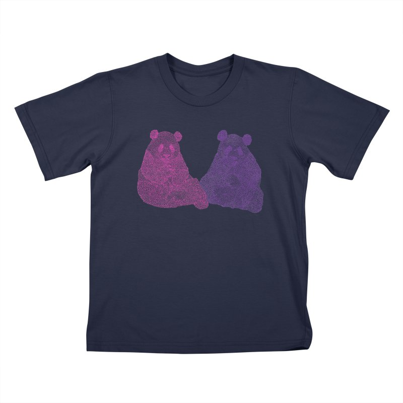 Playing Pandas Kids T-shirt by Daniel Dugan's Artist Shop