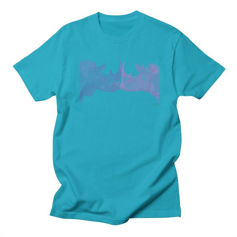 Kissing Rhinos Women's Unisex T-Shirt by Daniel Dugan's Artist Shop