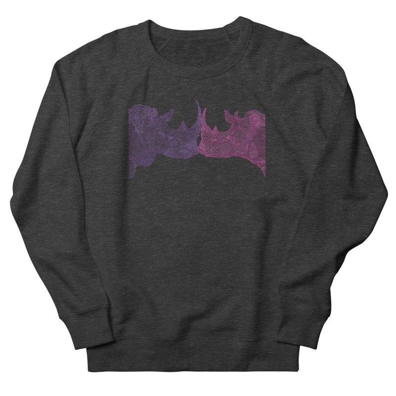Kissing Rhinos Women's Sweatshirt by Daniel Dugan's Artist Shop