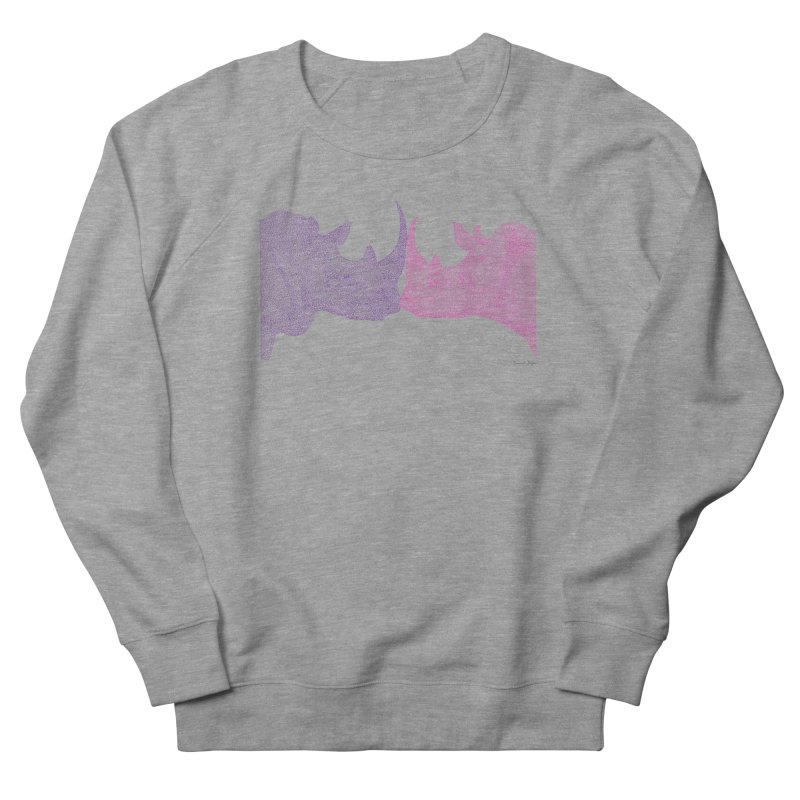 Kissing Rhinos Men's Sweatshirt by Daniel Dugan's Artist Shop