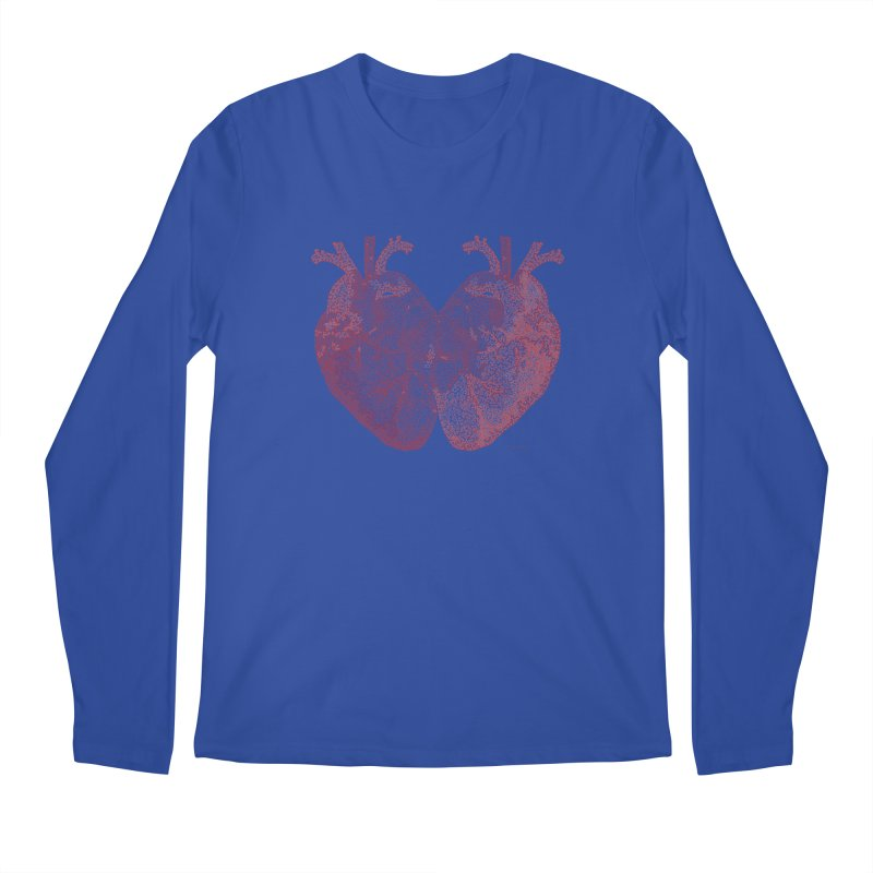 Heart to Heart Men's Longsleeve T-Shirt by Daniel Dugan's Artist Shop