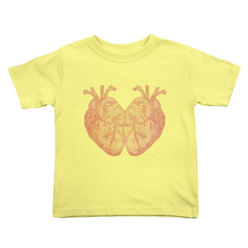 Heart to Heart Kids Toddler T-Shirt by Daniel Dugan's Artist Shop
