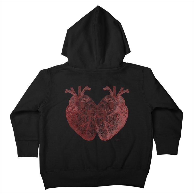 Heart to Heart Kids Toddler Zip-Up Hoody by Daniel Dugan's Artist Shop
