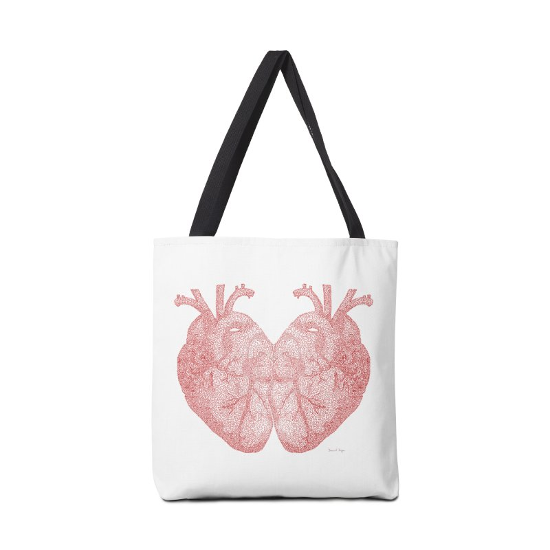 Heart to Heart Accessories Bag by Daniel Dugan's Artist Shop