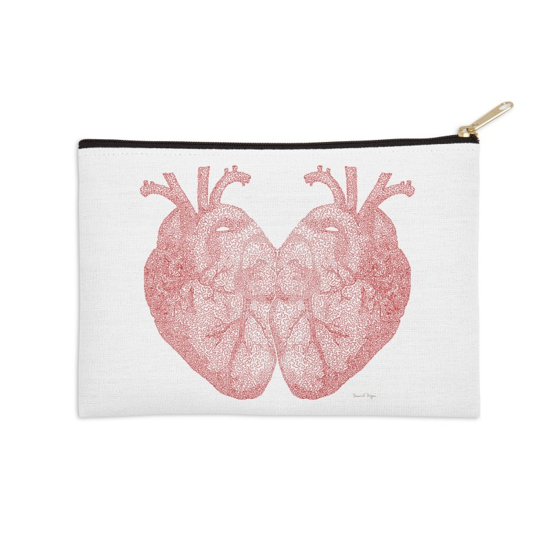 Heart to Heart Accessories Zip Pouch by Daniel Dugan's Artist Shop