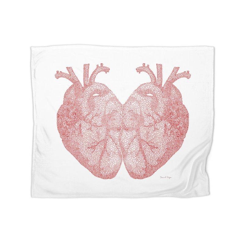 Heart to Heart Home Blanket by Daniel Dugan's Artist Shop