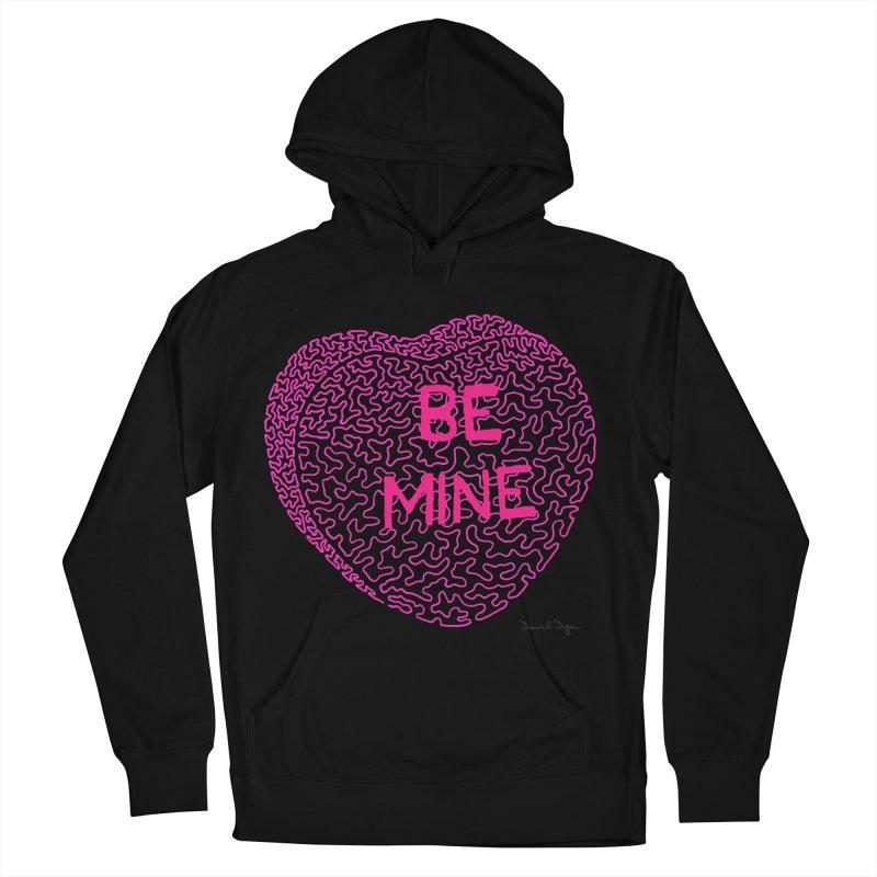Be Mine Pink Men's Pullover Hoody by Daniel Dugan's Artist Shop