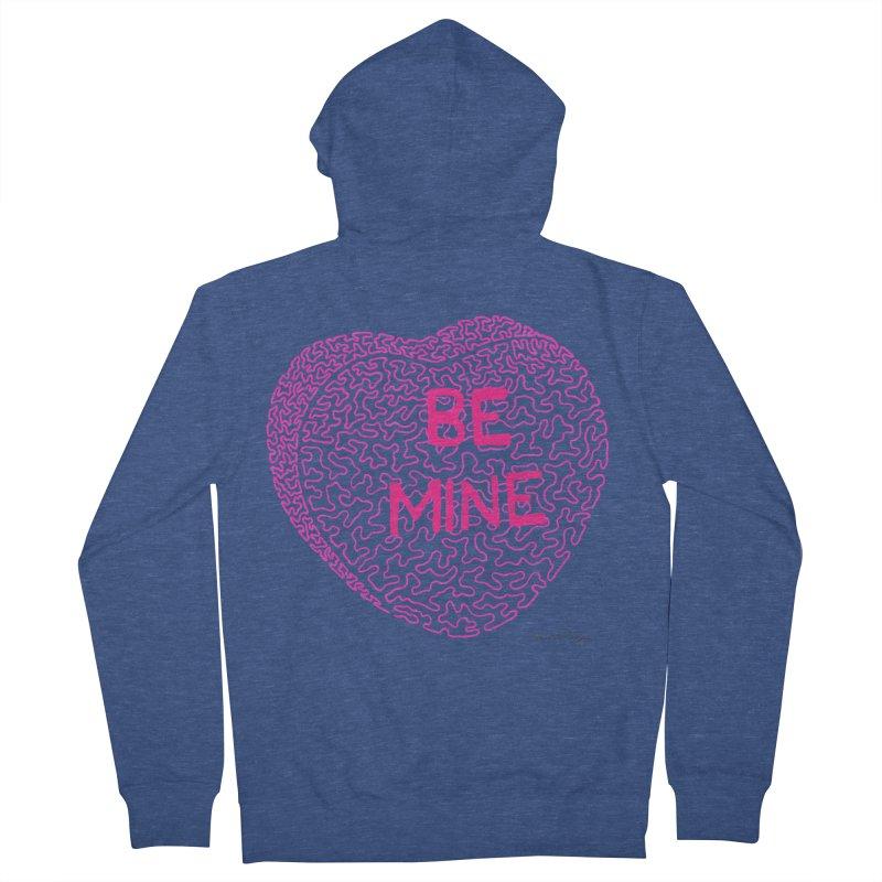 Be Mine Pink Men's Zip-Up Hoody by Daniel Dugan's Artist Shop