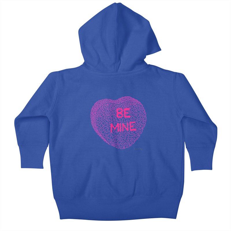 Be Mine Pink Kids Baby Zip-Up Hoody by Daniel Dugan's Artist Shop