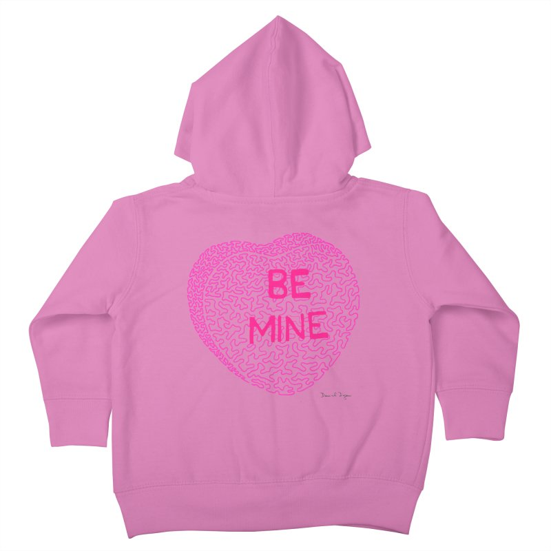 Be Mine Pink Kids Toddler Zip-Up Hoody by Daniel Dugan's Artist Shop