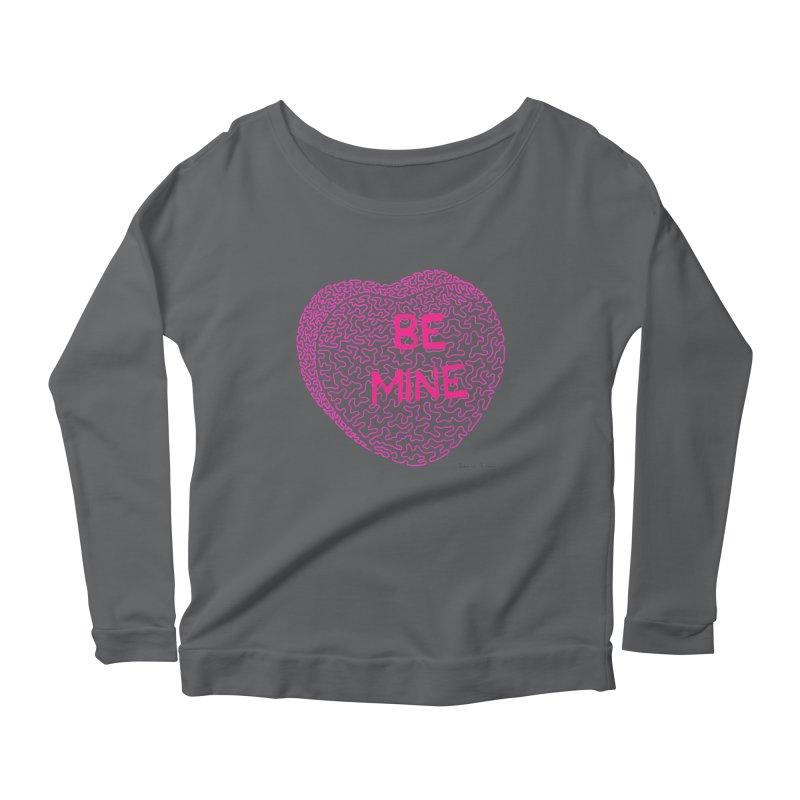 Be Mine Pink Women's Longsleeve Scoopneck  by Daniel Dugan's Artist Shop