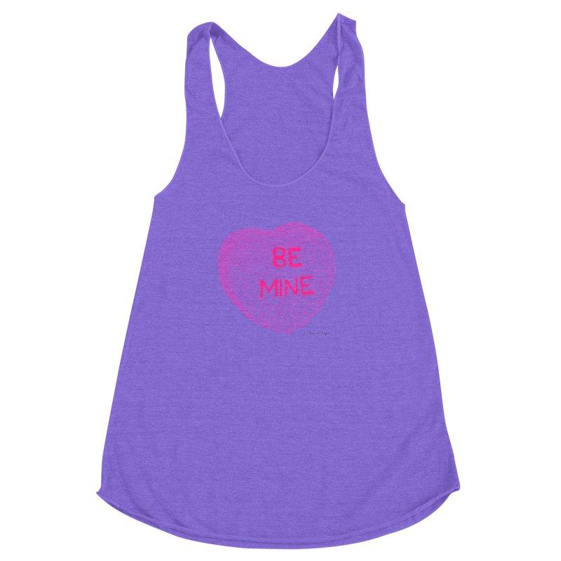Be Mine Pink Women's Racerback Triblend Tank by Daniel Dugan's Artist Shop