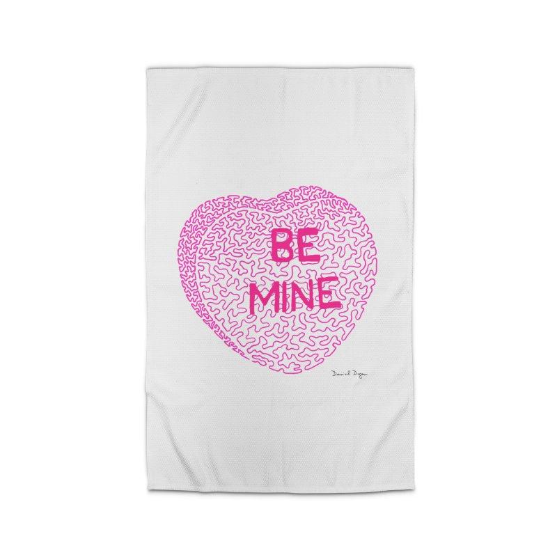 Be Mine Pink Home Rug by Daniel Dugan's Artist Shop
