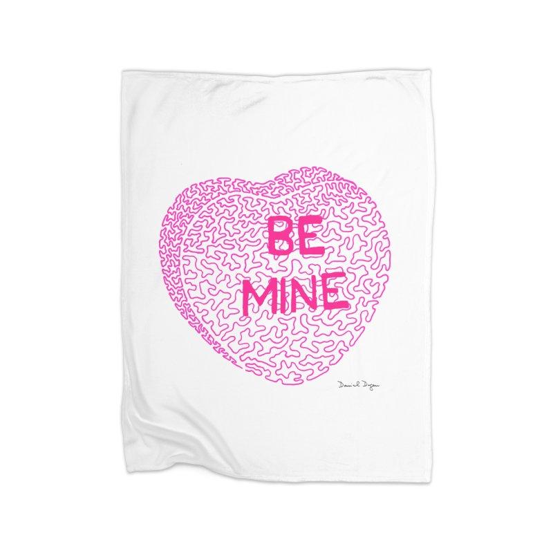 Be Mine Pink Home Blanket by Daniel Dugan's Artist Shop