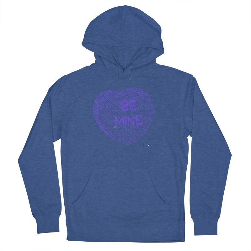 Be Mine Purple Men's Pullover Hoody by Daniel Dugan's Artist Shop