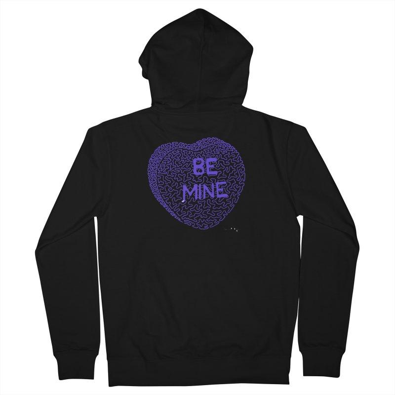 Be Mine Purple Men's Zip-Up Hoody by Daniel Dugan's Artist Shop