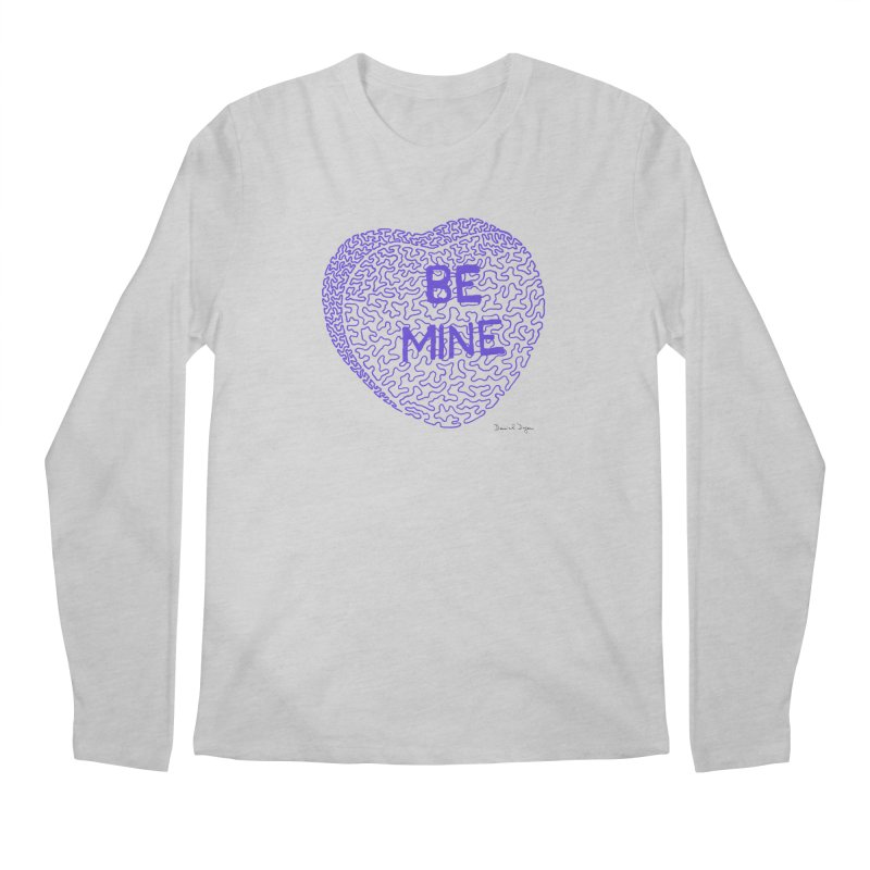 Be Mine Purple Men's Longsleeve T-Shirt by Daniel Dugan's Artist Shop