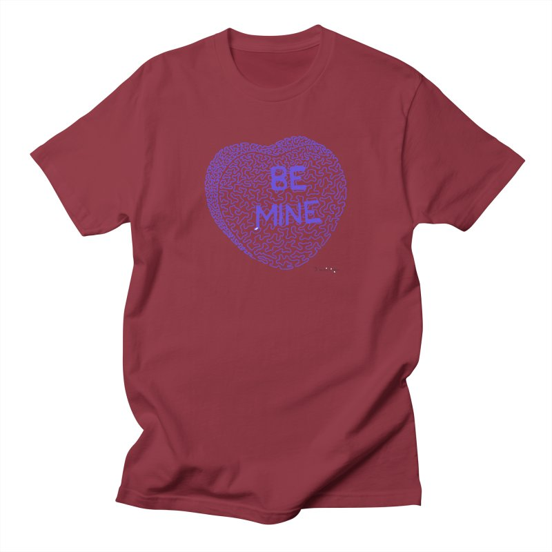 Be Mine Purple Women's Unisex T-Shirt by Daniel Dugan's Artist Shop