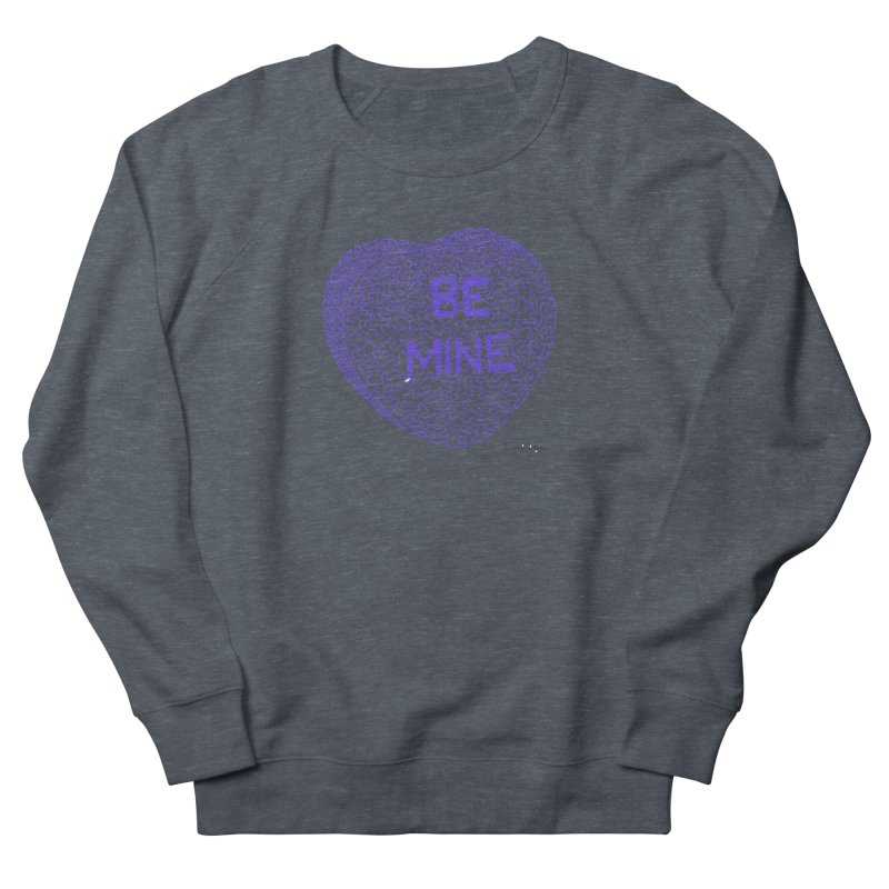 Be Mine Purple Men's Sweatshirt by Daniel Dugan's Artist Shop
