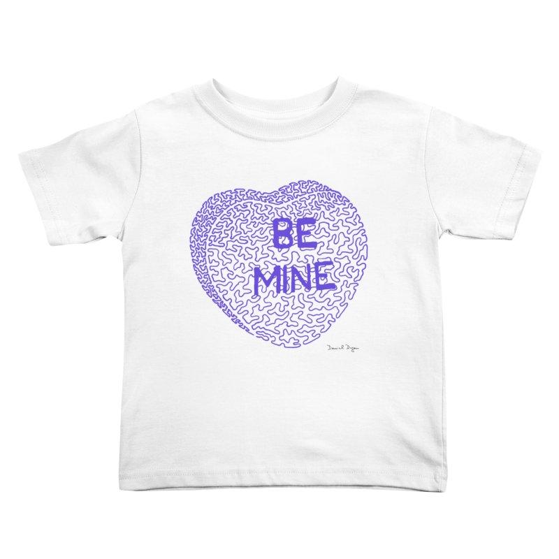 Be Mine Purple Kids Toddler T-Shirt by Daniel Dugan's Artist Shop