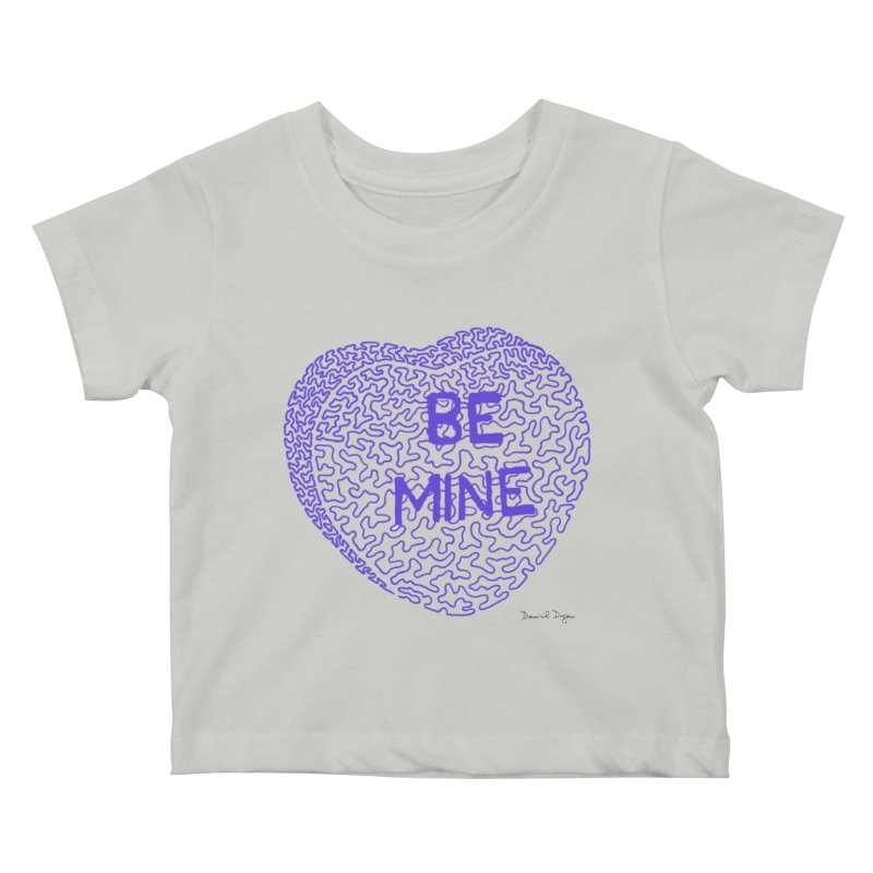 Be Mine Purple Kids Baby T-Shirt by Daniel Dugan's Artist Shop